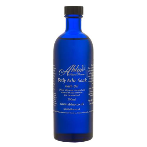 Abluo Aromatherapy Essential Body Ache Bath Oil 200ml
