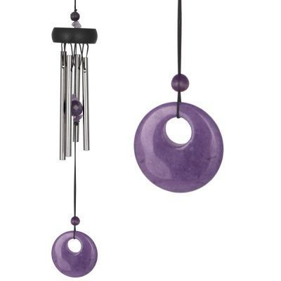 Amethyst Precious Stone Wind Chime From Woodstock- 30cm Long