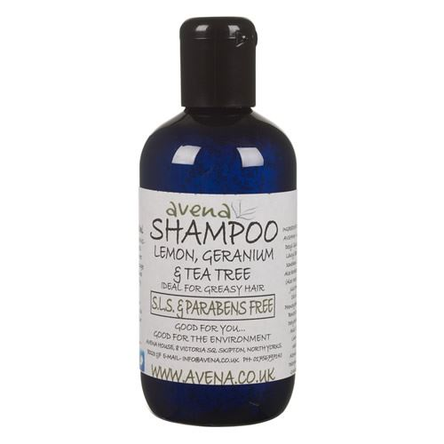 Avena Lemon Geranium & Tea Tree Shampoo- SLS Free 250ml. Unisex for All Hair