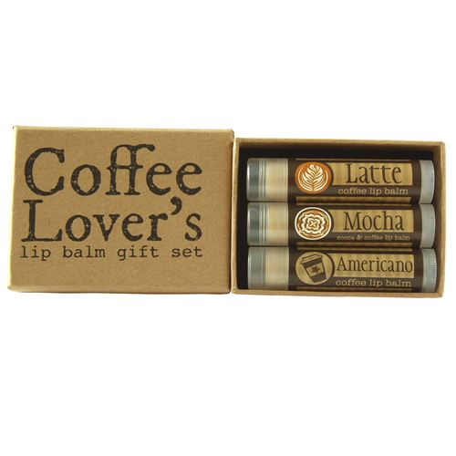 Coffee Lovers Natural Lip Balm Gift Set