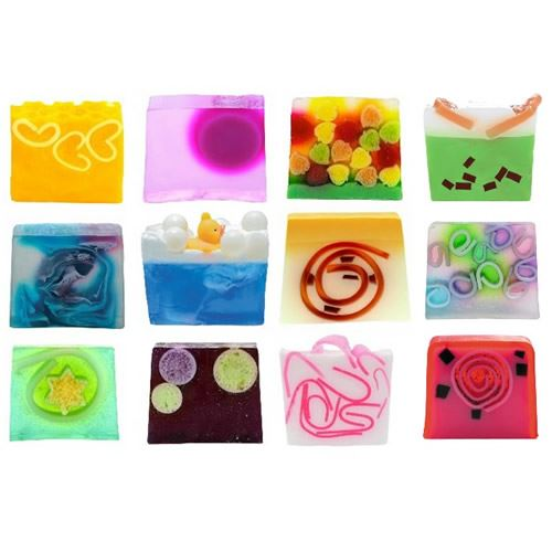 Colorful Sliced Handmade Soap Gift Set Of 12