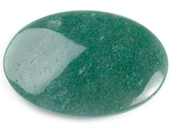 Green Aventurine Natural Semi-Precious Palmstone.  Approx 70mm x 50mm.