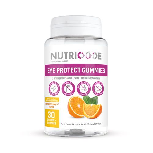 Nutricode Eye Protect Gummies - 30 Orange-Flavoured Gummies For Adults