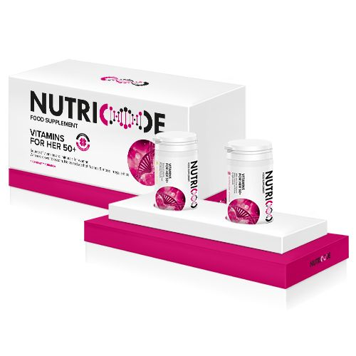 Nutricode Vitamins for Her 50+, Additionally Alleviating Menopausal Symptoms.